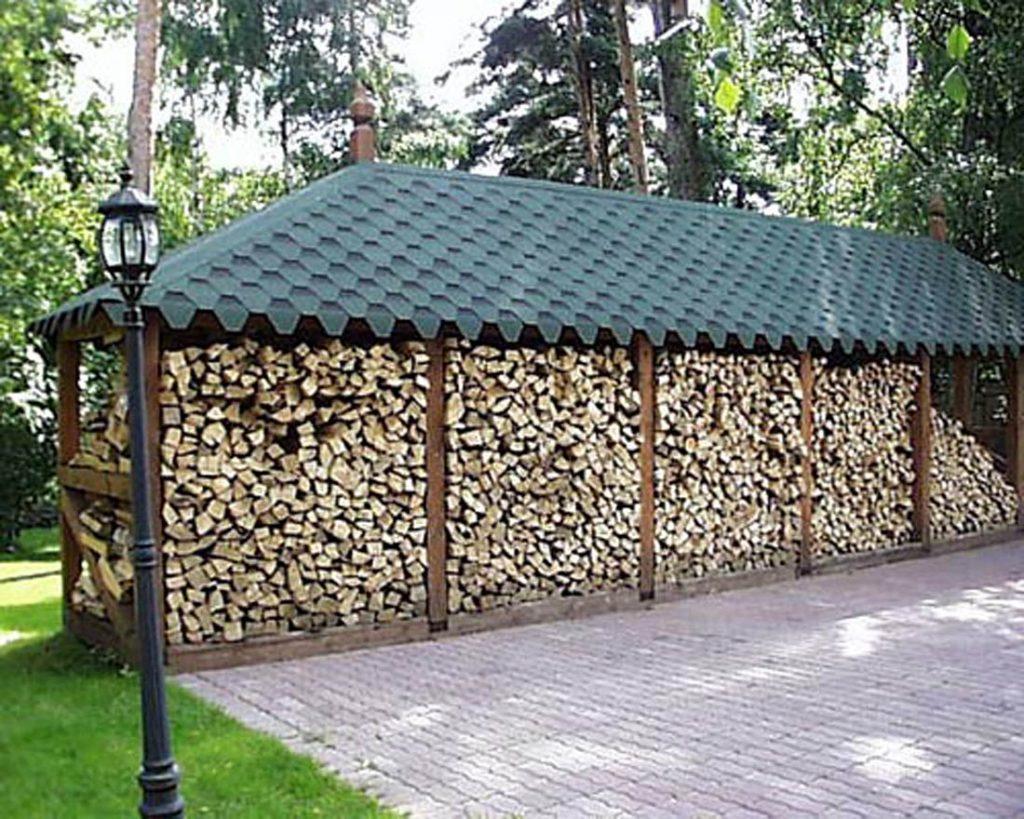большой навес для дров