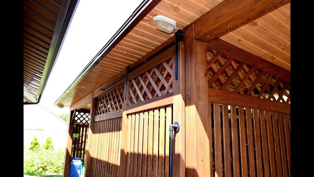 дровник для дачи деревянный