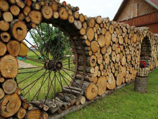 дровник-забор