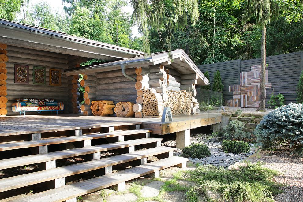дровница для бани на даче