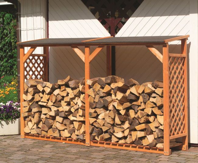 дровница для дачи из дерева