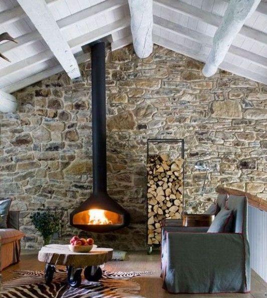 дровница для камина в стиле лофт