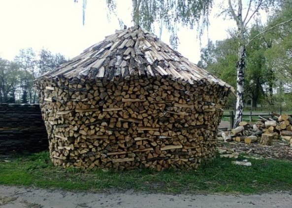 круговой способ укадки дров
