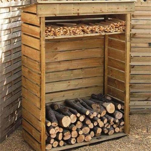маленькая деревянная дровница