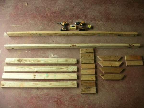 материалы для изготовления дровницы