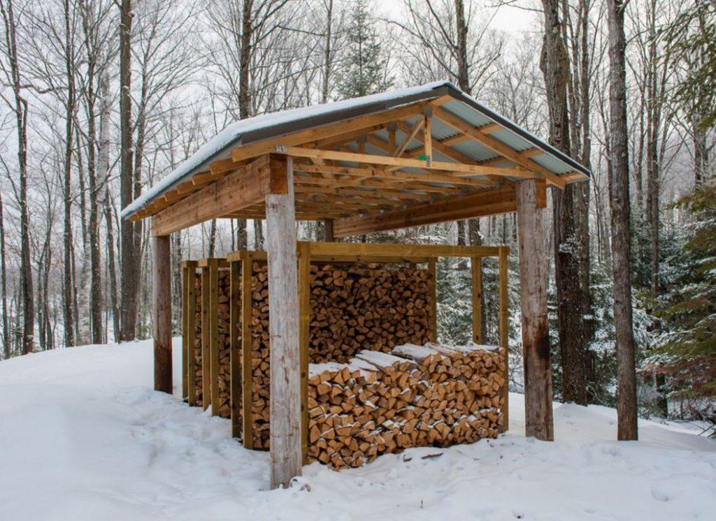 навес для дров на даче