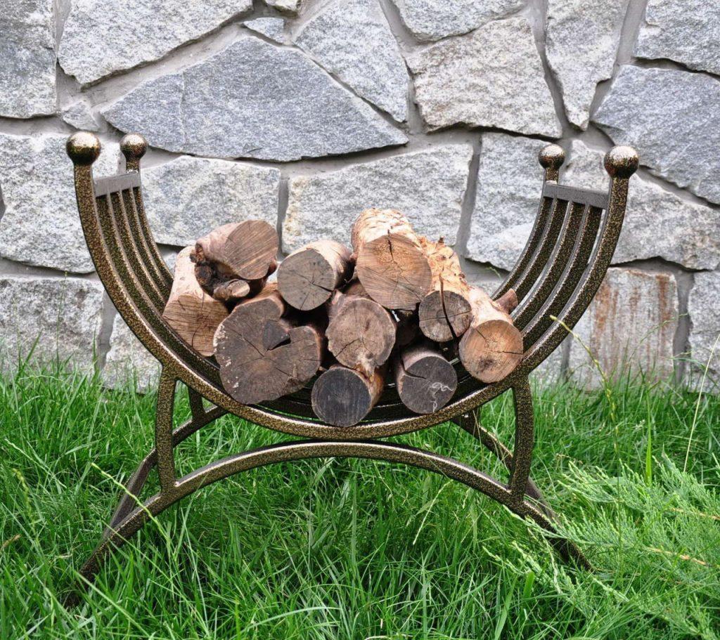 переносная дровница для камина