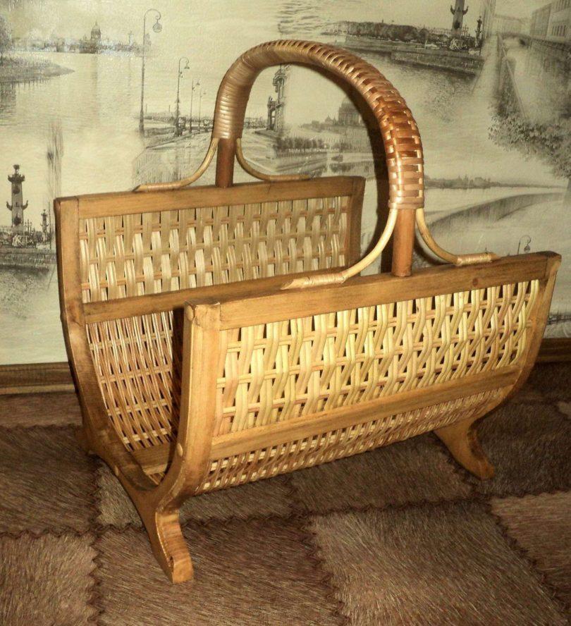 плетеная дровница