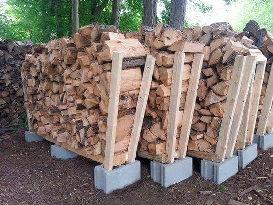 подпорки под дрова