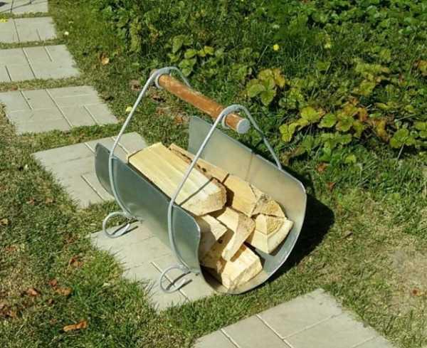 подставка для дров из листа железа