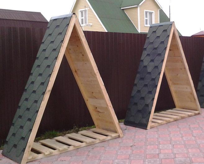 треугольные дровницы