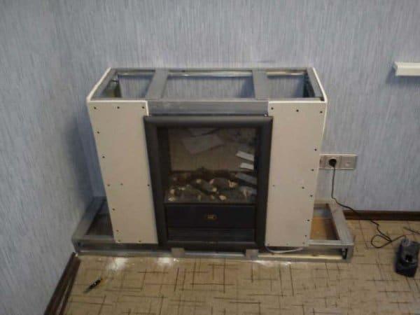 Электрокамины отделка фото электрический навесной камин