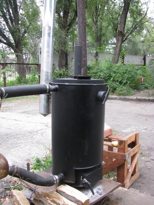 Самодельная пиролизная печь