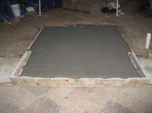 Заливка бетона под печь