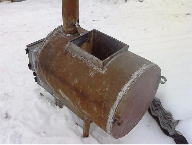 Печь для бани своими руками из металла: сборка