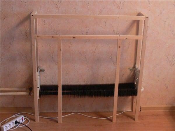 Установка портала при помощи деревянных брусков