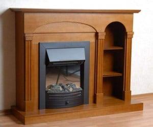 деревянный портал для камина из массива