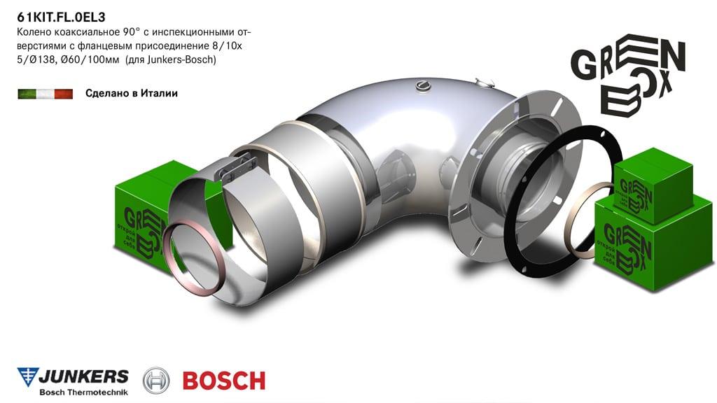 деталь дымохода для турбированного газового котла