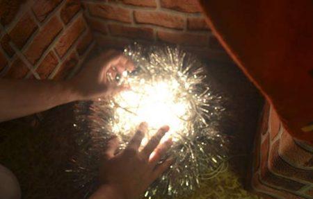 Декоративный очаг с подсветкой