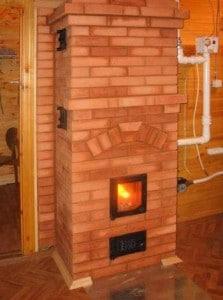 дровяная печь с водяным контуром своими руками