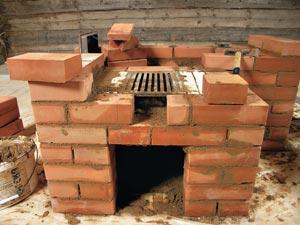 как построить печь в баню