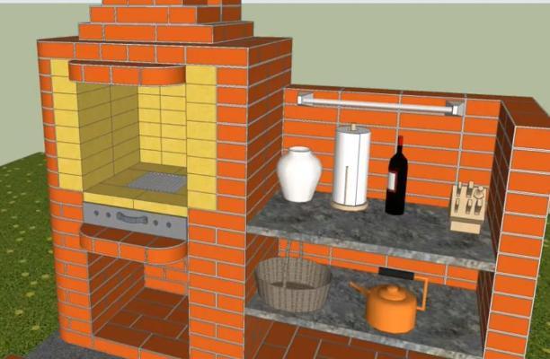 как сделать печь для барбекю