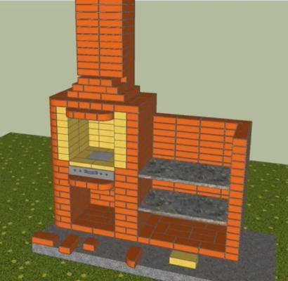 как сложить печь камин барбекю
