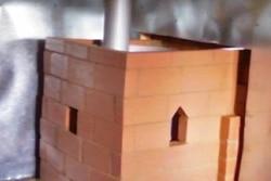 как установить металлическую печь в баню