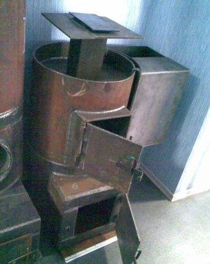 Печи для бани своими руками из металлической трубы