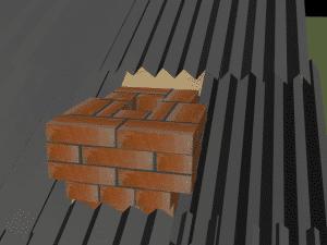 кирпичный дымоход для камина