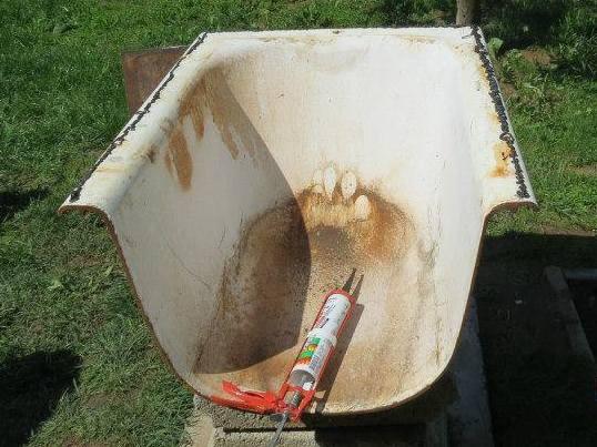 Печь  из ванны