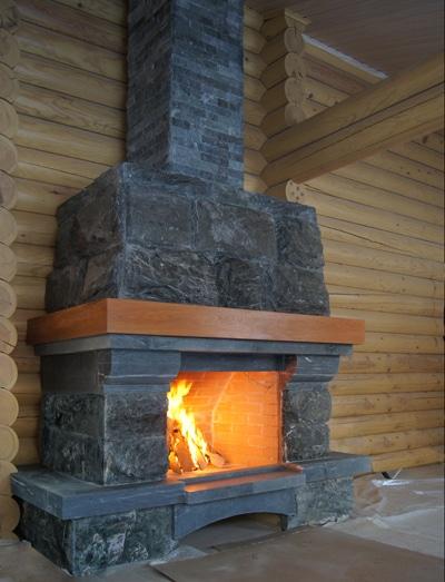 монтаж дымохода в деревянном доме