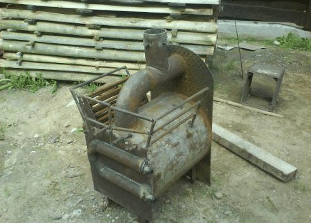 печь металлическая для бани своими руками