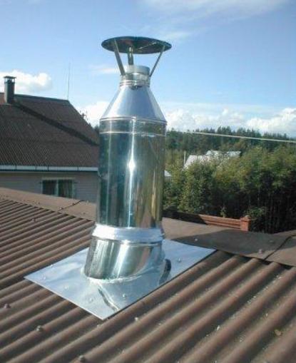 Монтаж дымоходов на крыше сэндвич для дымохода в бане