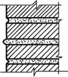Схема углового камина. Расшивка швов